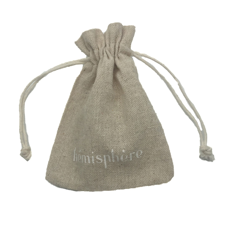Wholesale Linen Jewelry Pouch Linen Drawstring Bag Jute Packing Bag Custom Printed