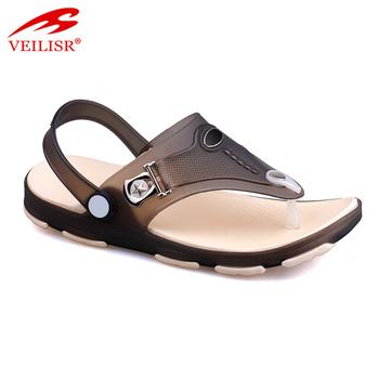 c4b039228 New design thong jelly shoes clear PVC footwear men beach sandals