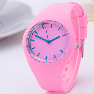 Women bling colorful dial silicone london quartz watches