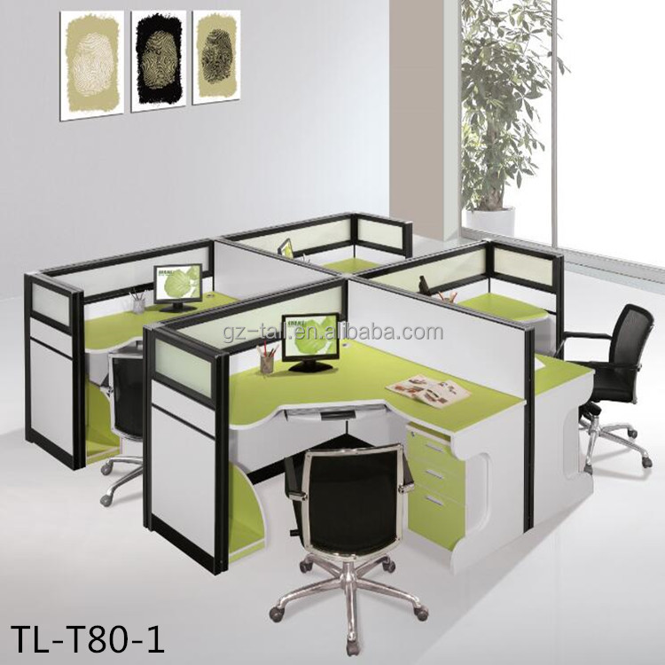 Office working furniture 4 seat partition used