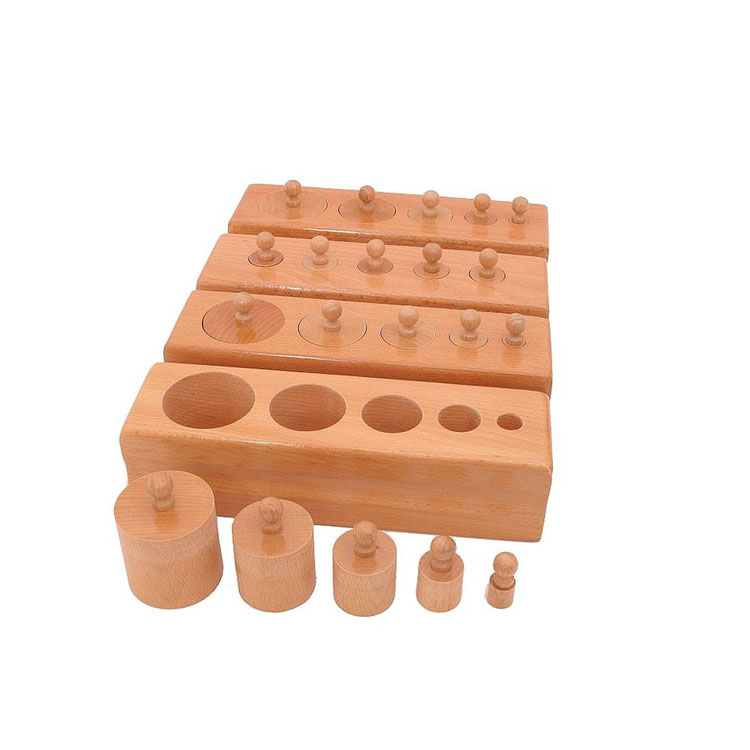 Preschool kids educational montessori toys Infant Knobbed Cylinders for sale