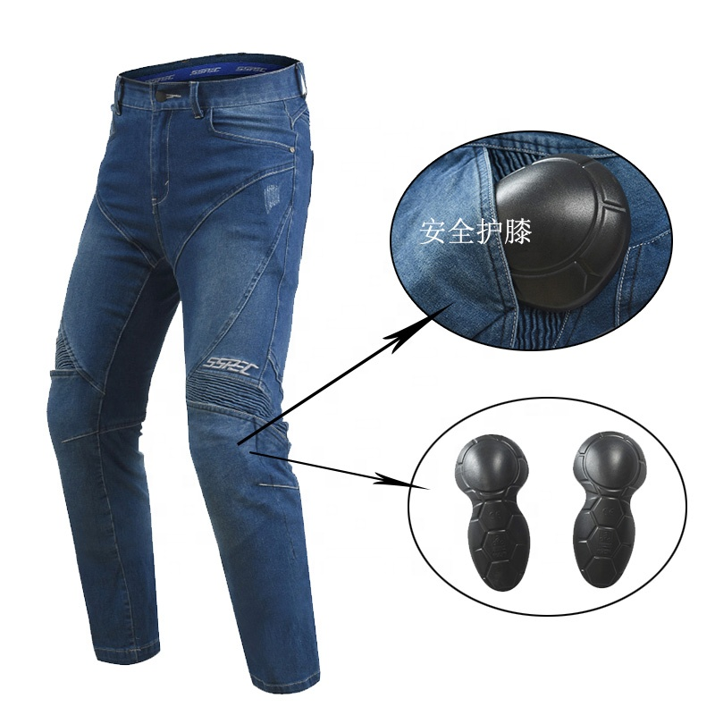 SSPEC Black Motorcycle Jeans Men Women Motorcycle Pants Motorcycle Trousers Protective Gear Motocross Racing Pantalon Moto Pants фото