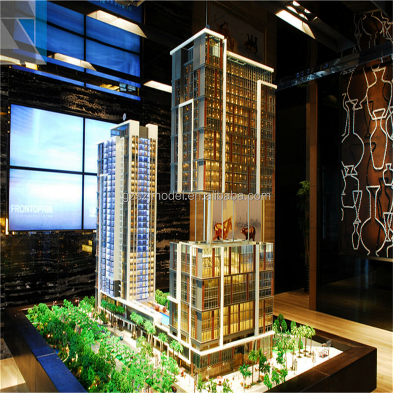 High rise hotel architecture model for investment, 3d cad models