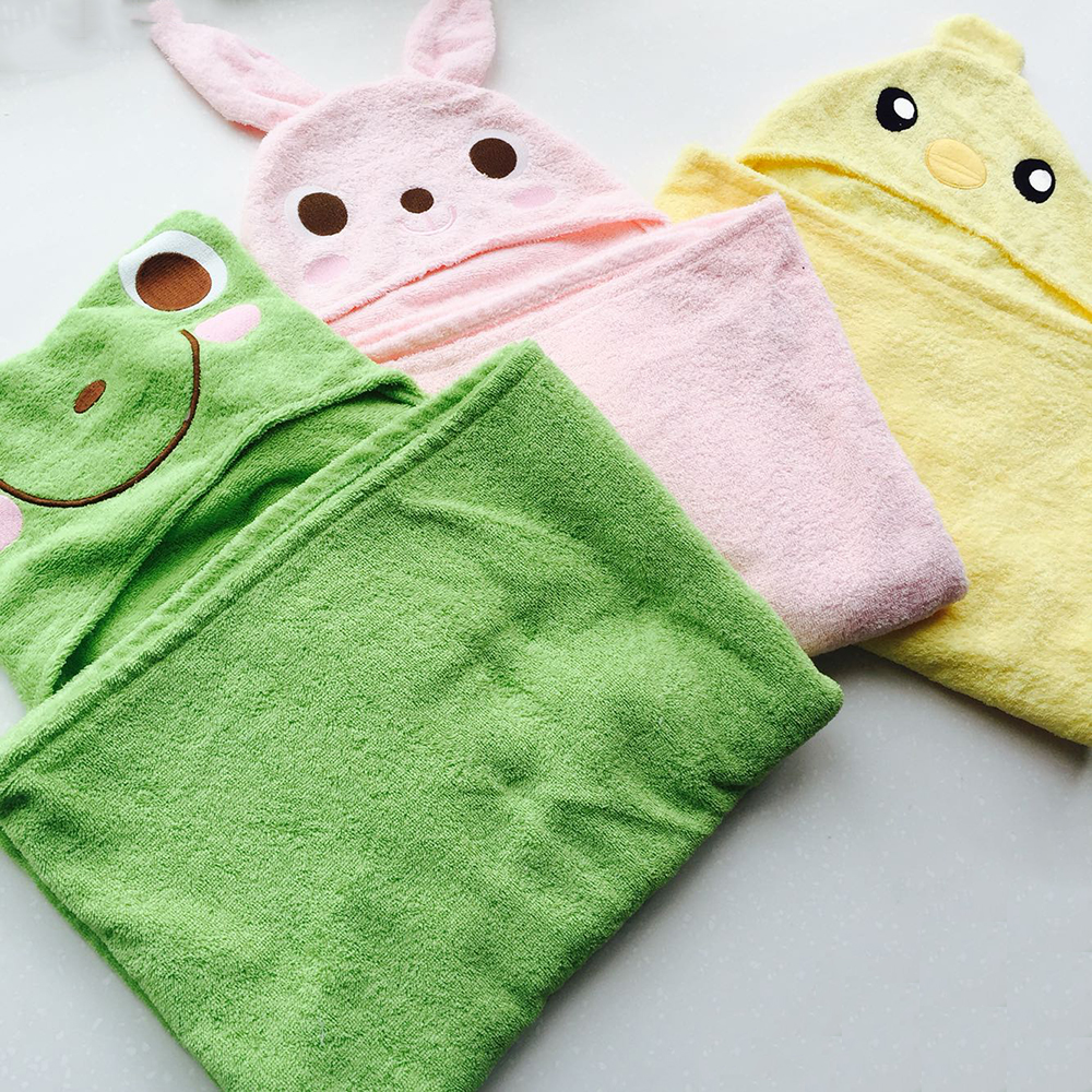 Turkish Hammam Cute 100% Organic Cotton Baby Hooded Towel