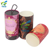 Free design recycled colorful waterproof hot stamping glossy lamination paper tube cosmetic push up with ribbon handle