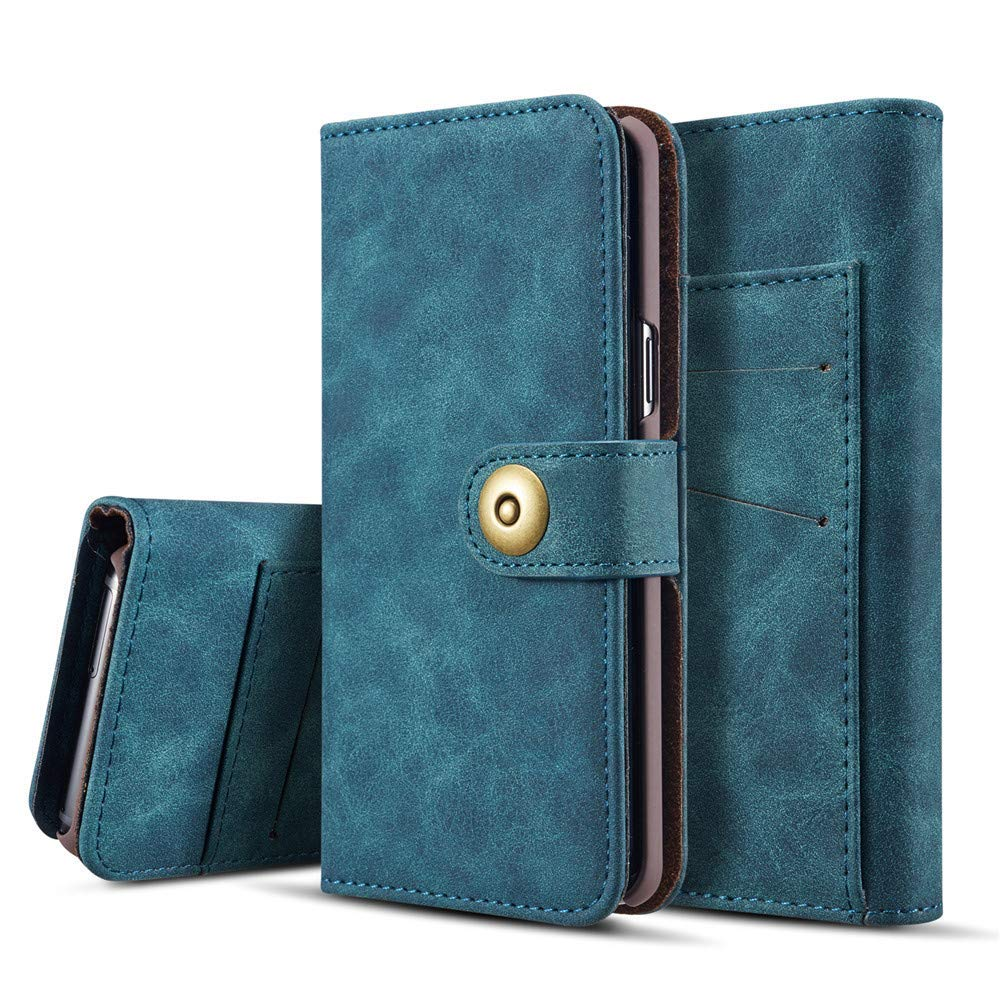 IVY [Magnetic Detachable] Galaxy S9 Plus Wallet Phone Case [Retro][2 in 1] Card Holder PU Leather Flip Cover for Samsung S9 Plus/S9+ SM-G965 - Blue