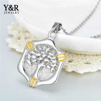 Jewelry Necklace Round Pendant Setting Tree Design