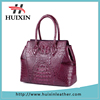 Woman original crocodile leather handbag , factory cheap handbags for leather