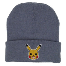 Hot Selling Fashion Pokemon Go Caps Cute Pokemon Soft 100 Acrylic Winter Hat For Gifts