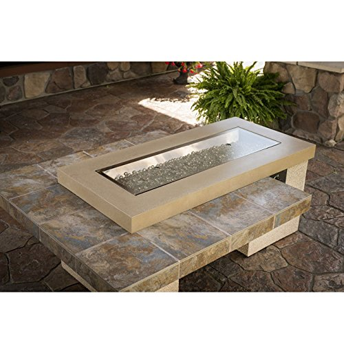 Get Quotations Outdoor Great Room Uptown Crystal Fire Pit Table With Tile Top And Rectangular Burner Brown