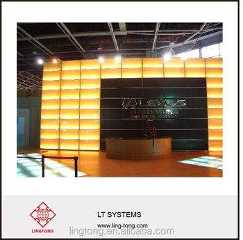 Exhibition Stand Wall : Aluminium display lighting wall for exhibition stand and car trade