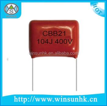 Rohs Certification Cbb21 Polypropylene Metallized Film Capacitor ...