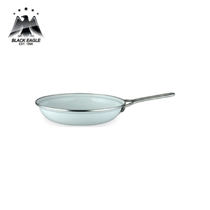 Deep hamburger carbon steel fry pan