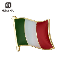 Bulk mix custom soft enamel metal 금 plating italy flag 옷 깃 핀