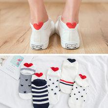 5 пар/лот, летние носки с милыми животными, мультяшный Кот, лиса, кролик, женские носки, забавные короткие носки, женские хлопковые незаметные...(Китай)
