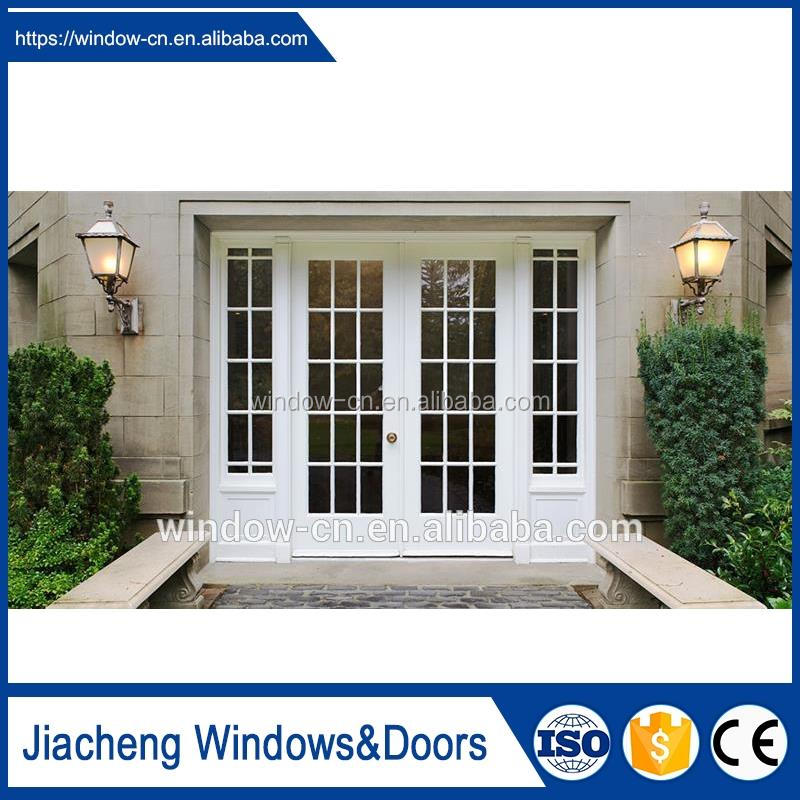 PVC door casement door white firm modern concise french style pvc frame water proof fire proof classic casement door