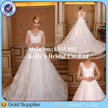e915ba870d ... Wedding Gown. Source · 2015 Modest fashion elegant modern latest design  with cap sleeves low V back lace up quinceanera