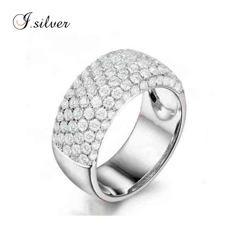 Mexican Wedding Rings Rhodium Plated Micro Pave Cz Silver Ring