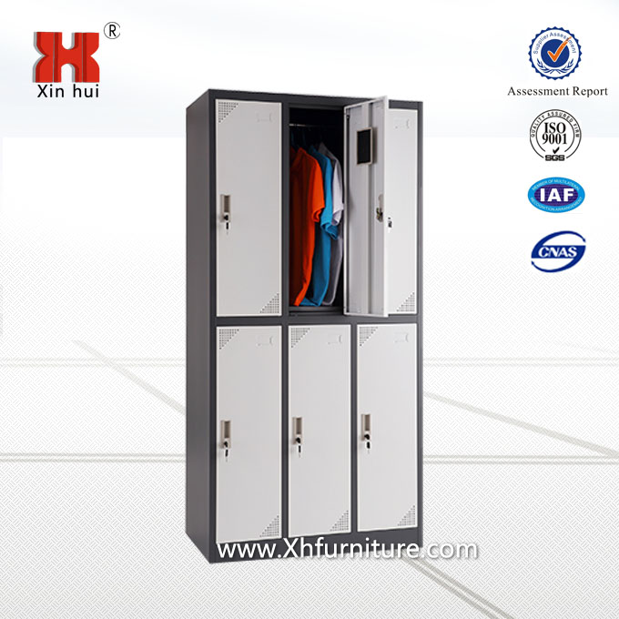 6 door steel staff locker cabinet/gym lockers