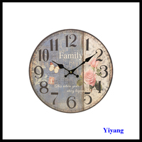 Wholesale Home Decorative Flower Shaped Wall Clock