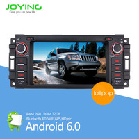 Manufacture 6.2 inch android car stereo navigation touch screen car dvd player For Jeep Dodge Wrangler