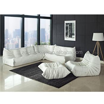 Waverunner Microfiber Sectional Sofa Set White S090