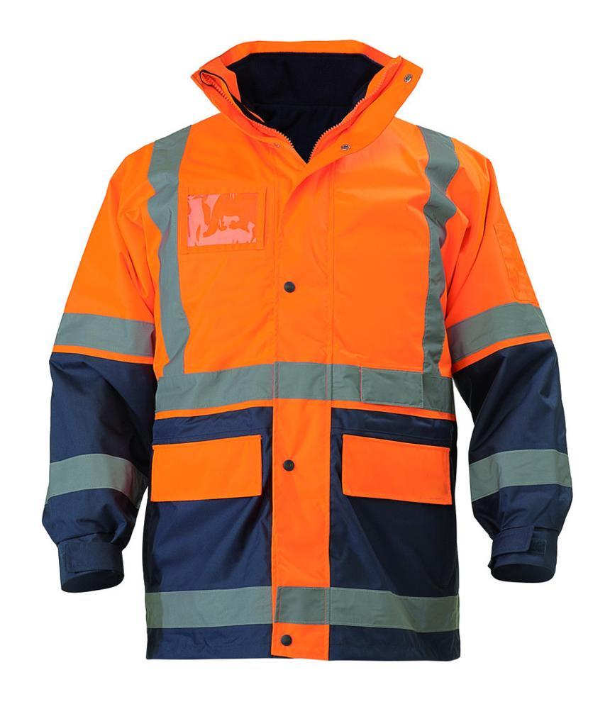 reflective <strong>orange</strong>/black safety jackets
