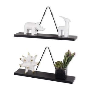 Rustic State Wall Mount Floating Shelves Wood with Triangle Bracket