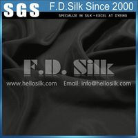 Silk 4 PLY Woven Crepe Fabric Black No.03 Color