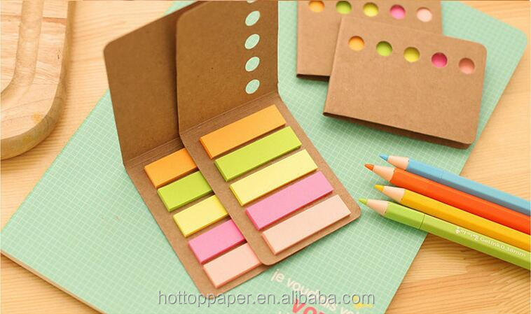 neon paper sticky note flag/sticky bookmark index