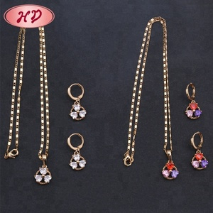 2018 Beautiful Clover Design Artificial One Gram 22K Gold Jewellery Dubai