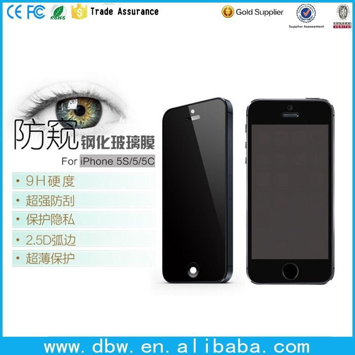 anti-glare screen protector PET and tempered glass gold mirror screen protectors with best retail package