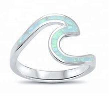 925 argent sterling Vague Coupe Fille <span class=keywords><strong>Bague</strong></span> opale <span class=keywords><strong>bague</strong></span> Conçu Pour Les Femmes