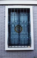 2017 top selling wrought iron balcony window HL-I-W-126