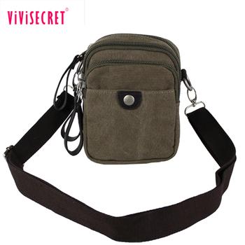 Vintage small simple men s bag two sided shoulder bag canvas messenger bag  for men with low 61b4b849dde3b
