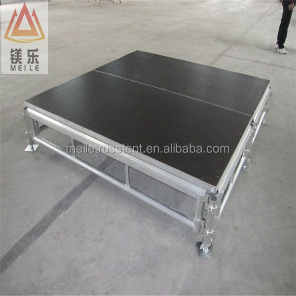 DJ concert outdoor 1.22*1.22m or 1.22m*2.44m aluminum wedding party fashion show stage in stock