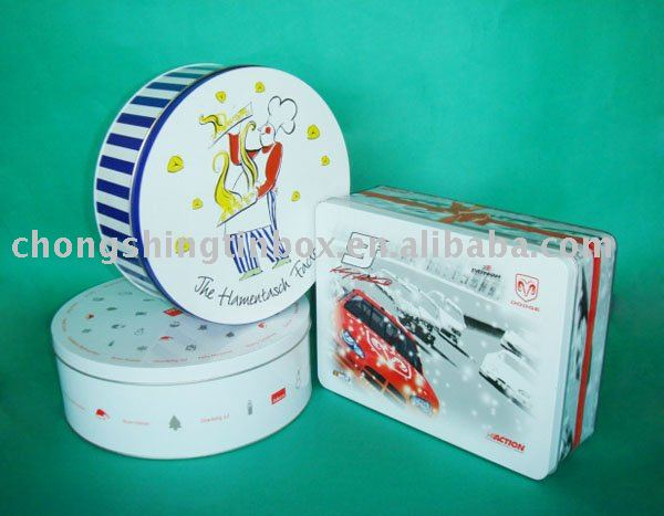 Tin box for gift packing,Promotion gift tin box for cookies,christmas cookie tin can