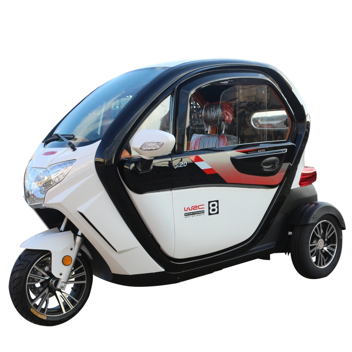 Mini cooper 3 wheel electric car enclosed scooter passenger tricycles for personal commute