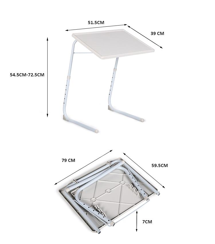 Pabrik Pemasok Plastik Portabel Sudut Adjustable Laptop Stand Meja Kecil Lipat Meja Laptop Meja Komputer