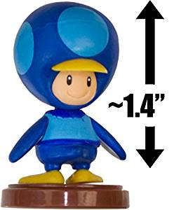 "Penguin Toad - Blue: ~1.4"" New Super Mario Bros. Wii Choco Egg Mini Figure Series [NO CANDY] (Japanese Import)"