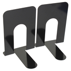 7.5 Inch Economy Bookends, Nonskid, Heavy Duty Metal Book Ends Supports for Books,Magazine
