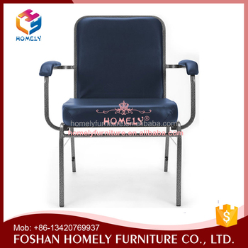 Best Price Furniture New Model Metal Arm Chair For Church