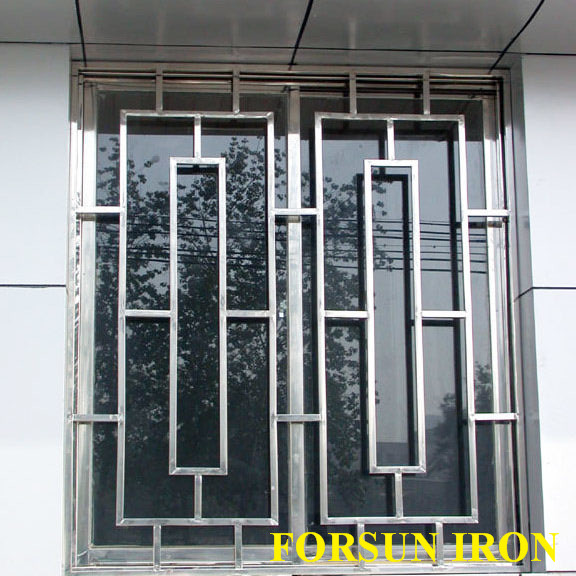 New simple iron window grill design buy steel window for Window grills design in the philippines