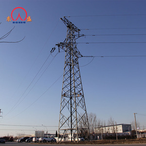 Tapered configurations 30ft 500kv transmission tower tubular steel power pole