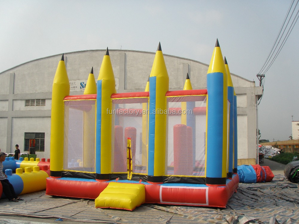 Medium Inflatable pencil jumper with popups for children