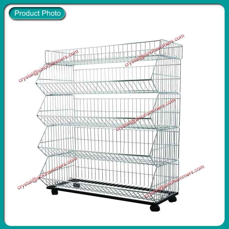 Metal Wire Mesh Stacking Basket,Wire Display Racks And Stands - Buy ...