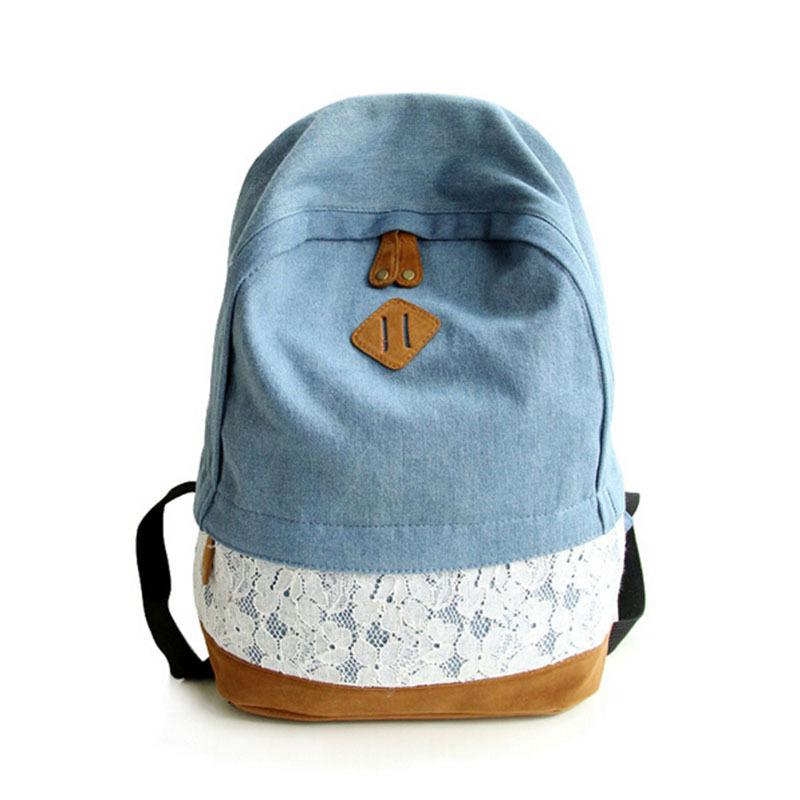 4639d81b2b1a высокое качество холста студенческого спорта рюкзак mochila опрятный белый синий  Рюкзаки школьные рюкзаки для подростков