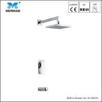 Bathroom hidden rain shower faucet concealed thermostatic shower set