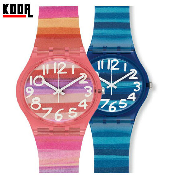 Astilbe Color Gradient Fashion Plastic Watch original watch