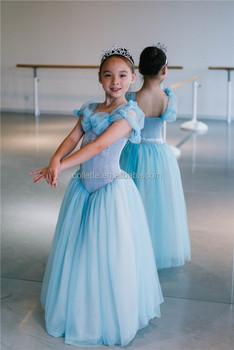 Mbp0016 Cinderella Princess Light Blue Long Dance Dress , Buy Light Blue  Long Prom Dress,Long Ballroom Dancing Dress,Kids Dancing Dresses Product on